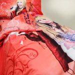 944 Πάπλωμα Ηannah Montana Κόκκινο 100%COT 165×245 2Τμχ
