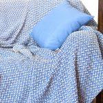 2605 Σετ Ριχτάρι 3τμχ 100% COTT Μπλε - Λευκό