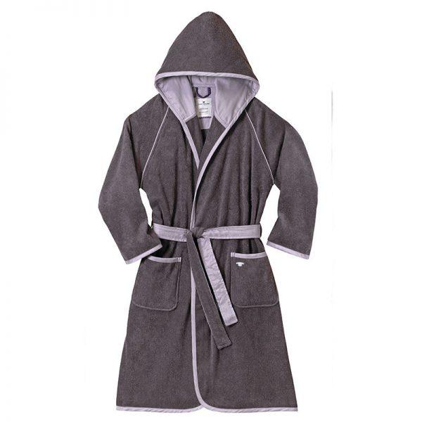 100-302 Μπουρνούζι 100% COTTON Dark Grey