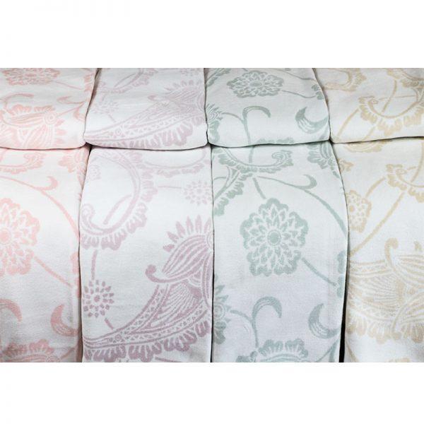 2339 Κουβέρτα Shawl 200x230 100% Cotton Βιολετί