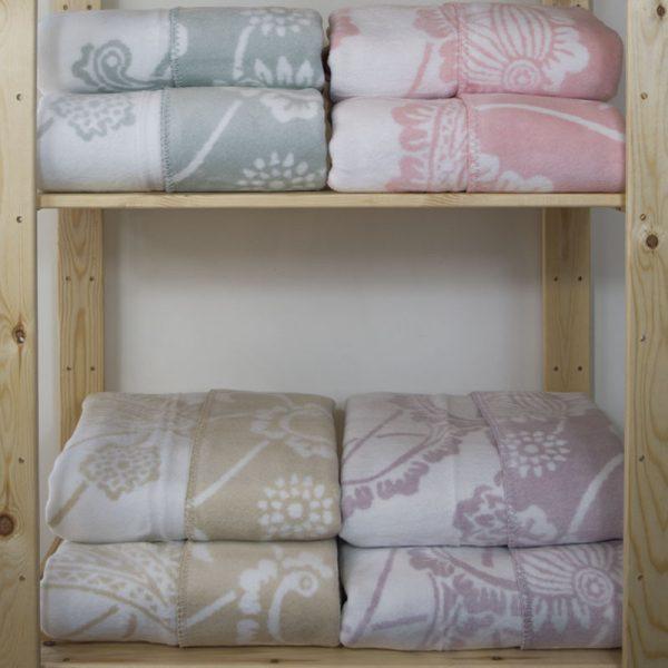 2339 Κουβέρτα Shawl 200Χ230 100% Cotton Μπεζ