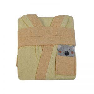 2603 Παιδικό Μπουρνούζι 100% Cotton Κίτρινο