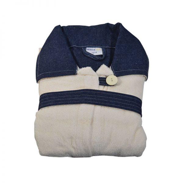 853 Παιδικό Μπουρνούζι 100% Cotton Εκρού