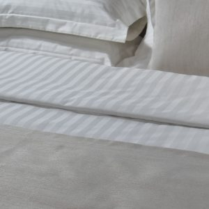 Παπλ/θήκη 240TC 80%Cot 20%Pol Satin Stripe1cm καθ
