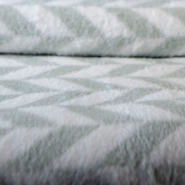 2338 Κουβέρτα Zig zag 200x230 100% Cotton Πράσινο