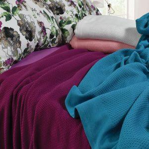 3075 Κουβέρτα Πικέ 100% Cotton 2 διαστάσεων 5 Xρώματα