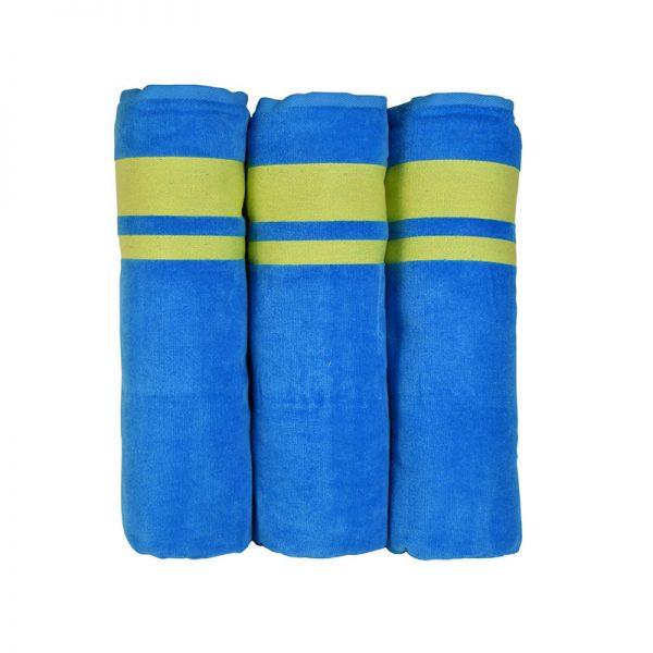900 Πετσέτα Neon 100% Cotton Μπλε