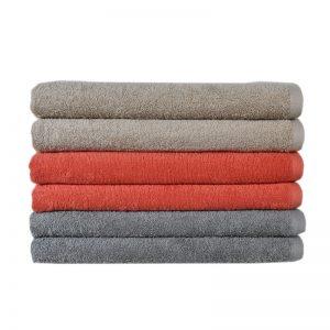 Πετσέτα Παραλίας 100% Cotton reactive 450gr Beige - Coral - Light Grey