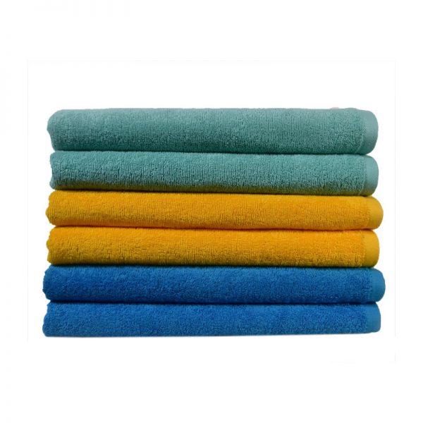 Πετσέτα Παραλίας 100% Cotton reactive 450gr Τυρκουαζ - Πράσινο - Κροκί