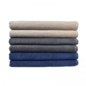 Πετσέτα Παραλίας 100% Cotton 450gr Grey - Blue - Beige