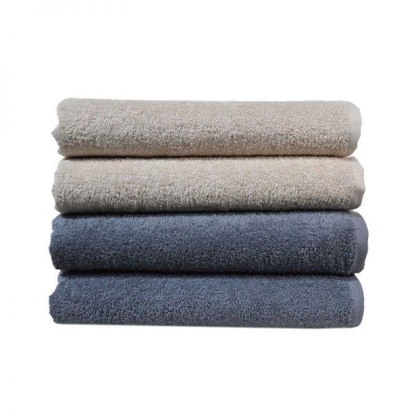 Πετσέτα Spa 100% Cotton 480gr Beige - Grey