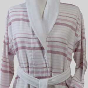 890 Μπουρνούζι Ρίγα Ροζ 100% Cotton