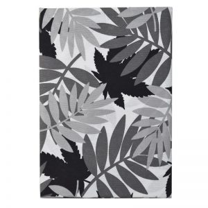 Τραπεζομάντιλο Polycotton Grey Leaves