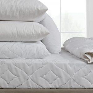 Κάλλυμα Στρώματος Καπιτονέ 100%Cotton αδιάβροχο Λευκό