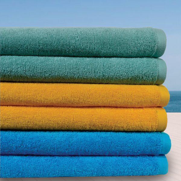 844 Πετσέτα Παραλίας 100% Cotton Τυρκουαζ - Πράσινο - Κροκί