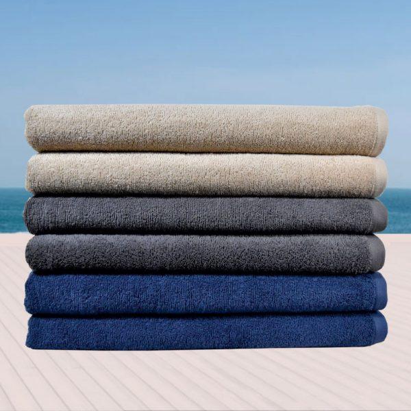 843 Πετσέτα Παραλίας 100% Cotton Grey - Blue - Beige