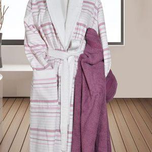 890 Μπουρνούζι Ρίγα 100% Cotton Ροζ