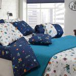 3156 Σετ Πάπλωμα 100% Cotton 160Χ235 Μπλε