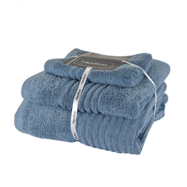 5005 Σετ Πετσέτες 100%CΟΤ 600GR 3Τεμ Jeans Blue