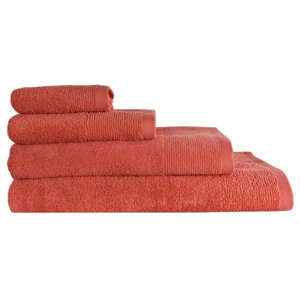 5004 Πετσέτα σε 4 Διαστάσεις 100%CΟΤ 500GR Coral
