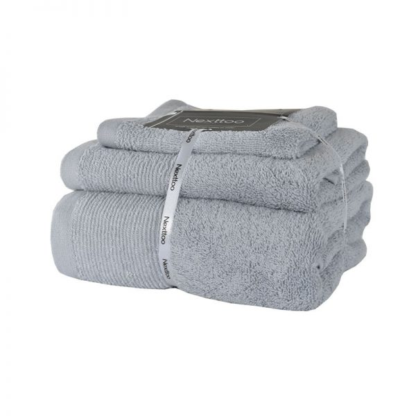 5004 Σετ Πετσέτες 100%CΟΤ 500GR 3Tεμ Light Grey