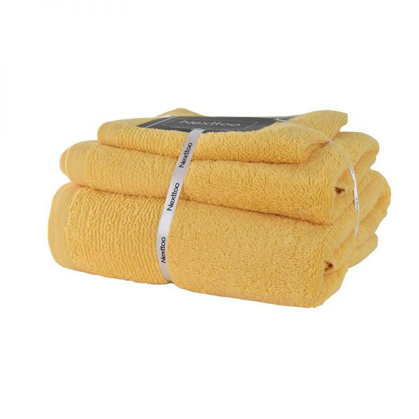 5004 Σετ Πετσέτες 100%CΟΤ 500GR 3Tεμ Yellow
