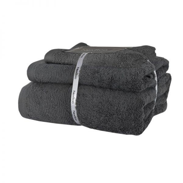 5004 Σετ Πετσέτες 100%CΟΤ 500GR 3Tεμ Medium Grey