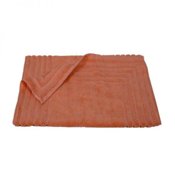 856 Ταπέτο Ζακάρ Ρίγα 100% Cotton 50x75 Εκρού Κοραλί