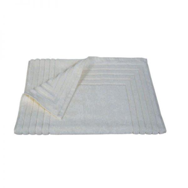856 Ταπέτο Ζακάρ Ρίγα 100% Cotton 50x75 Εκρού