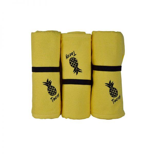 800 Πετσέτα Παραλίας 100% Cotton Τarzy 70Χ150 Kίτρινο